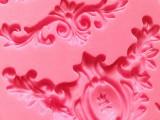 厂家硅胶模具 3D蕾丝翻糖模具 手工皂模具 烘焙蛋糕工具 SQ1