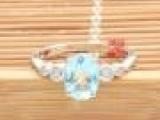 批发供应 S925纯银 镶嵌天然海蓝宝石戒指 时尚大宝石水晶女戒