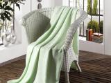竹纤维盖毯 三叶草高档礼品毛巾小盖毯批发