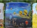 韩式手绘陶瓷多肉花盆批发零售,款式新颖价格优惠