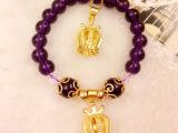 欧币饰品一件代发 天然水晶皇冠手链项链套装女保色欧币仿黄金