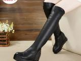 欧洲站马丁靴过膝长靴女靴子女鞋一件代发时装靴过膝靴长靴时装靴