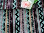 条纹色织提花面料 文艺复古服装布料 褶皱棉麻亚麻布料厂家批发