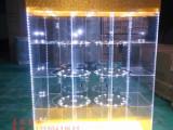 亚克力精品旋转展示柜有机展示柜精品透明柜化妆品架展示系列制作