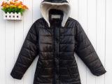 秋冬新款外贸原单大码女装休闲棉衣纯色女式长袖羊羔毛棉服批发