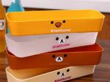日式轻松熊抽屉收纳整理盒 厨房餐具收纳盒 卡通塑料储物盒 103g