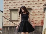 爆款新款连衣裙 时尚码全 伊丽来纯色 背心裙无袖背心连衣裙
