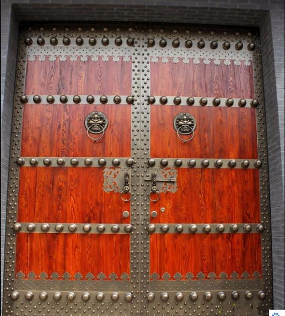 榆木庭院门 实木大门 进户门 入户大门 实木门 大门定做