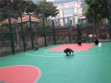 新丰篮球场地坪施工 篮球场地面涂刷工程选君诚丽装
