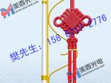 新款古典LED发光中国结 道路装饰照明 LED中国节 LED发光