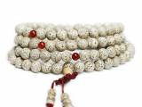 天然高密度顺白 星月菩提佛珠手链108颗 红玛瑙隔珠 星月菩提批