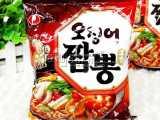 农心辣味鱿鱼/墨斗鱼面 韩国进口方便面拉面煮面袋装124g