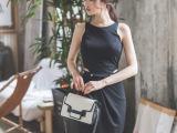 夏季时尚白领职业通勤收腰显瘦中款连衣裙VD5672