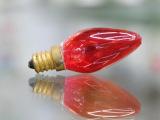 C7大红灯泡、普通白炽灯、小型壁灯配用灯泡 散装隔条装