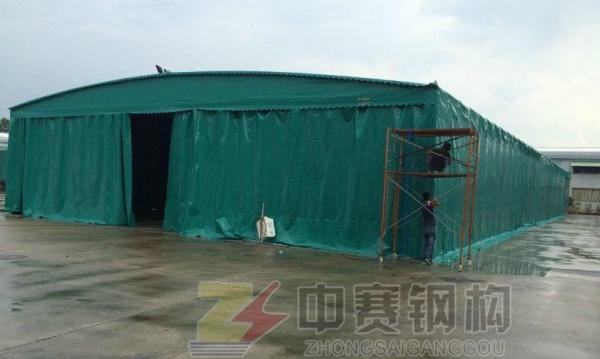 定制推拉篷伸缩移动雨棚户外遮阳棚折叠雨篷可移动车棚