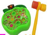 儿童益智玩具 苹果打地鼠玩具 敲击打地鼠