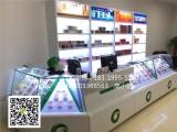 新款商超便利店专用木质烤漆柜钢化玻璃香菸展示柜台收银台