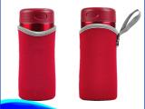 厂家供应 时尚纯色潜水料保温杯套玻璃杯杯套瓶套可定制印logo