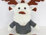 广东毛绒玩具厂 定做吉祥物毛绒玩具公仔 可爱毛绒小山羊娃娃
