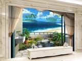 连锁酒店KtV餐厅3D背景墙壁画 定制墙布批发
