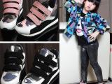 冬季新款儿童女童韩版迷彩加棉运动鞋 男童中帮加绒休闲鞋跑步鞋