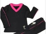 男女儿童拉丁舞蹈练功服套装保暖衣款秋冬新款加绒厚款长裤