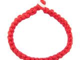 马年手编男女天然翡翠玉转运红绳 手链编织本命年转运手绳批发