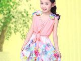 2014夏装新款女童连衣裙 儿童雪纺公主裙 六一跳舞裙 中大童裙