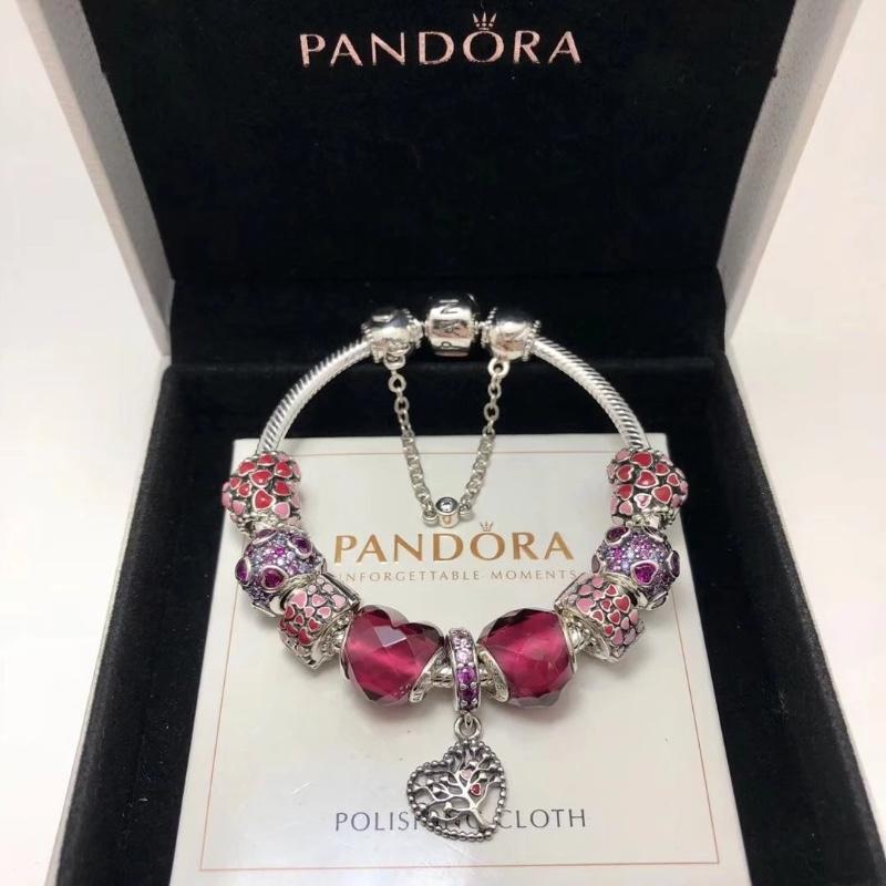 潘多拉Pandora银心形串饰手环7 96563NFR