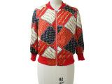 2015秋款大牌印花高端系列欧美时尚棒球服外套上衣女装批发j00