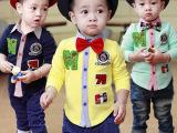儿童装男童长袖宝宝衬衫春秋装新款韩版休闲宝宝上衣