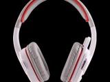 【厂家直销】SADES/赛德斯708专业游戏耳机 头戴式耳麦 白
