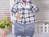 韩版婴幼儿童装 宝宝棉衣外出服 新生儿衣服婴儿棉袄套装秋冬加厚
