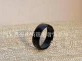 欧美热销不锈钢饰品 男士钛钢戒指 镀黑激