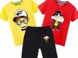 夏季新款儿童套装 外贸原单韩版纯棉男女短袖童装两件套爆款热卖