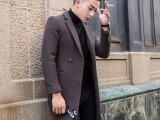 羊毛大衣男装中长款秋冬新款高档修身时尚休闲男式毛呢外套