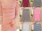 秋季地摊货源打底衫潮条纹长袖t恤女装一件代发 网店免费代理加盟