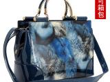 包包2014新款潮流女包欧美时尚漆皮手提包女士单肩亮面定型包