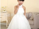 童礼服 女童白色 拖尾裙女童拖尾礼服女童拖尾礼服