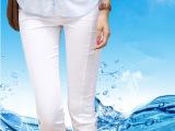七分裤女胖MM加大码裤子 显瘦弹力休闲裤夏季防走光打底裤子