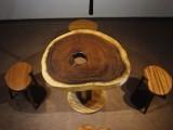 耐人寻味的胡桃木圆盘茶桌,带你提升喝茶的体验
