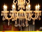 欧式田园水晶吊灯卧室灯餐厅酒店会所客房灯具蜡烛水晶吊灯香槟色