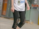 夏季新款时尚孕妇装莫代尔韩版孕妇打底裤大码七分托腹裤微信货源