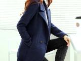 2014秋冬装新款女装修身呢子外套大衣歌莉娅毛呢外套女