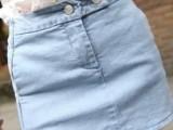 夏季新款**百搭包臀侧开叉牛仔半身裙包裙
