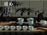 汝窑茶具茶壶盖碗套装