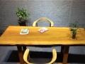 黄花梨自然边实木大板整体无拼接居家高档餐桌书桌画案电脑桌
