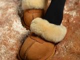 Ugg雪地靴澳洲正品代购羊皮毛一体室内拖鞋温暖舒适冬靴女靴栗色