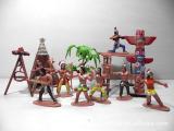 印第安人模型玩具 部落人物 美洲原著民 人偶造型