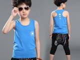 童装2015夏装韩版新款 儿童背心男童无袖T恤衫夏季中大童公子背